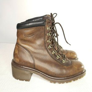 Dr Doc Martens Boots Leather Brown Heels 9
